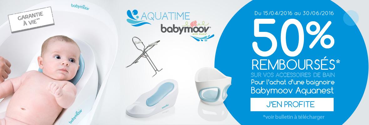 50% remboursés sur les accessoires de la gamme Aqua