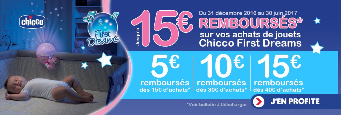 Jusqu'à 15€ remboursés !