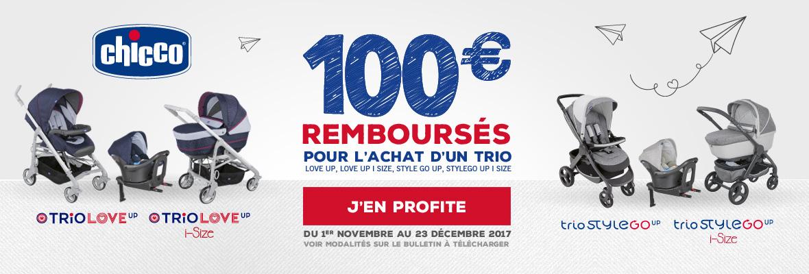 100€ remboursés sur un trio Chicco !
