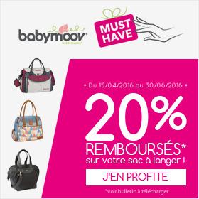 20% remboursés sur l'achat d'un sac à langer Babymoov