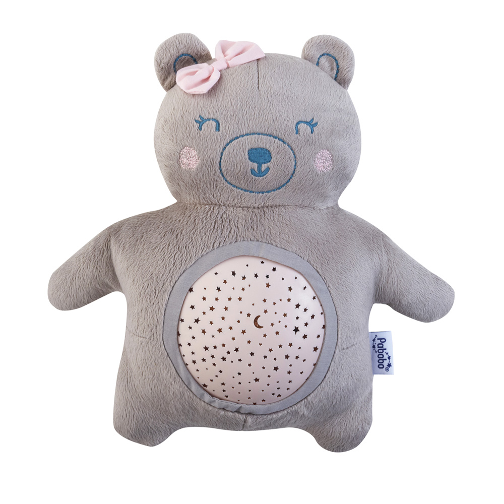 veilleuse b b projecteur d 39 toiles musical peluche ourson girl de pabobo chez naturab b. Black Bedroom Furniture Sets. Home Design Ideas