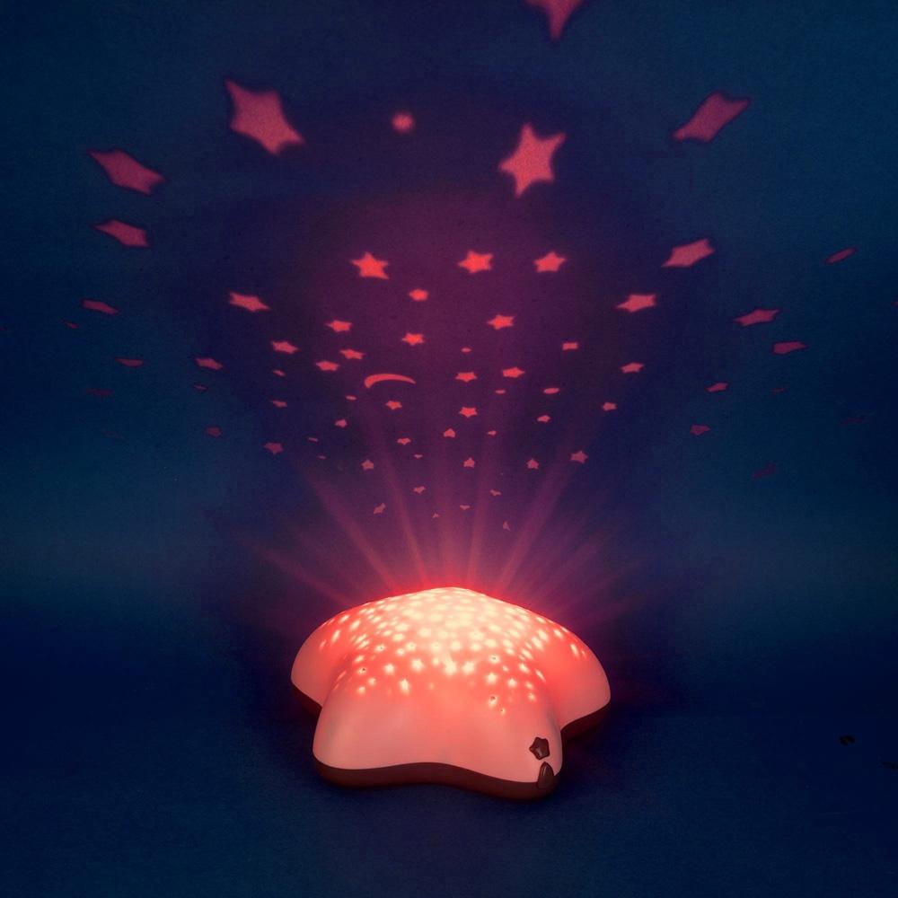 Veilleuse b b projecteur toiles piles lolabella rose de pabobo chez naturab b - Veilleuse projecteur etoile ...