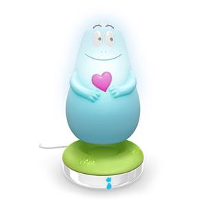Veilleuse bébé lumilove barbapapa bleu