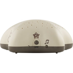 Veilleuse bébé projecteur d'étoiles musical hippo taupe