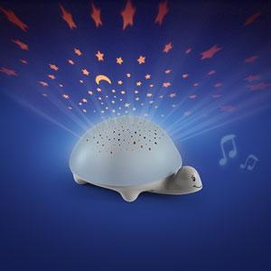 Pabobo Veilleuse bébé projecteur d'étoiles à piles tortue grise