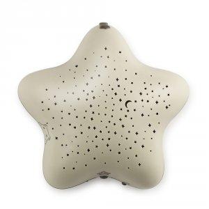 Pabobo Veilleuse bébé projecteur étoiles usb beige dans les bois