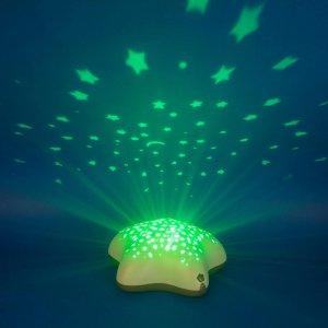Pabobo Veilleuse bébé projecteur étoiles piles beige dans les bois