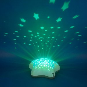 Pabobo Veilleuse bébé projecteur étoiles piles timoleo bleu