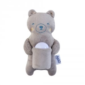 Coffret cadeau veilleuse nomade et peluche ours