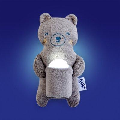 Coffret cadeau veilleuse nomade et peluche ours Pabobo