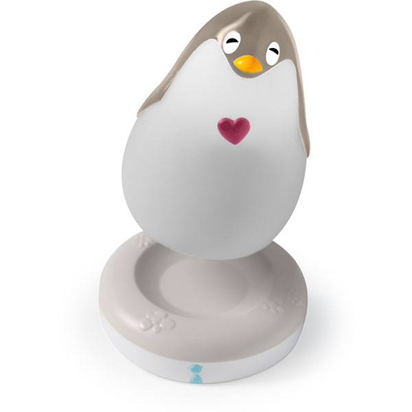 Veilleuse bébé lumilove pingouin musical gris/beige Pabobo