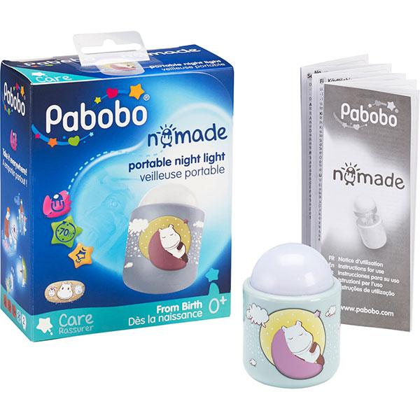 Veilleuse bébé nomade hippo baby Pabobo