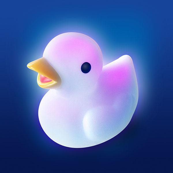 Jouet de bain bébé lumilove ducky lumineux Pabobo