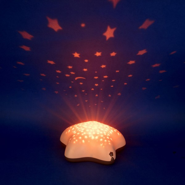 Veilleuse bébé projecteur étoiles usb beige dans les bois Pabobo