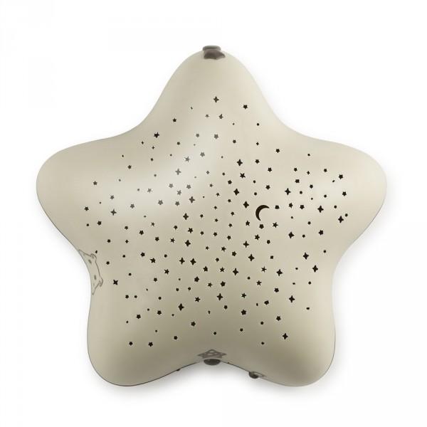 Veilleuse bébé projecteur étoiles piles beige dans les bois Pabobo