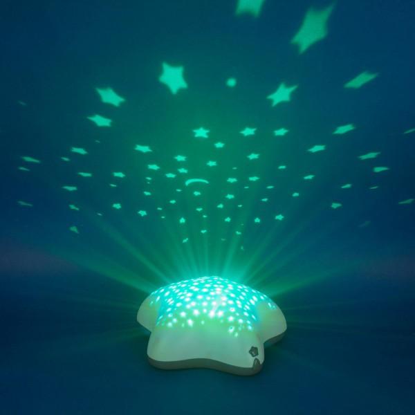 Veilleuse bébé projecteur étoiles piles timoleo bleu Pabobo