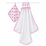 Set de bain étoiles roses fluo