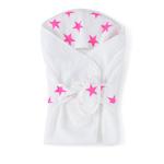 Cape de bain étoiles roses fluos pas cher