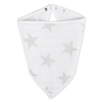 Bavoir bandana stardust silver star