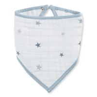 Bavoir bandana twinkle étoiles grises