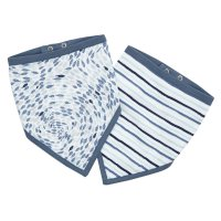 Lot de 2 bavoirs bandana seashore