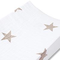 Housse de matelas à langer étoiles beiges