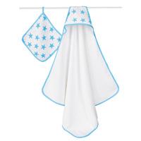 Set de bain étoiles bleues fluo