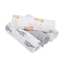 Lot de 4 maxi-langes safari babies