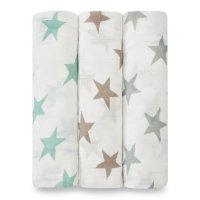 Lot de 3 maxi lange bébé milky way étoiles pastel