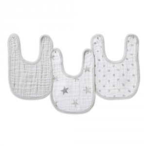 Lot de 3 bavoirs dusty
