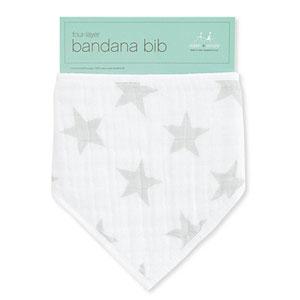 aden + anais Bavoir bandana stardust silver star