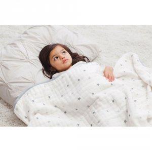 aden + anais Couverture bébé étoiles grises