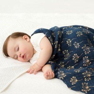 aden + anais Couverture bébé metallic gold deco