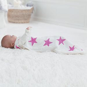 aden + anais Gigoteuse été étoiles roses fluo 12-18 mois