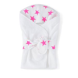 Sortie de bain étoiles roses fluos
