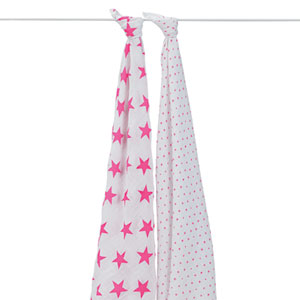 Lot de 2 maxi-langes rose fluo