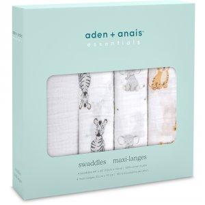 Aden by aden+anais Lot de 4 maxi-langes safari babies