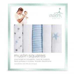 Aden by aden+anais Lot de 5 petits langes dapper