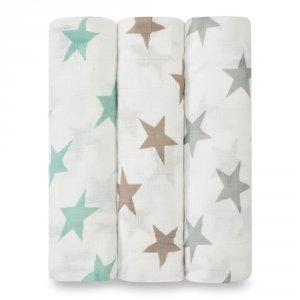 Lot de 3 maxi lange milky way étoiles pastel