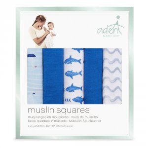 Aden by aden+anais Lot de 5 petits langes making waves