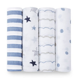 aden + anais Lot de 4 maxi-langes rock star