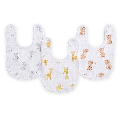 Lot de 3 bavoirs safari babies Aden by aden+anais