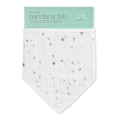 Bavoir bandana nigh sky hibou bleus Aden + anais