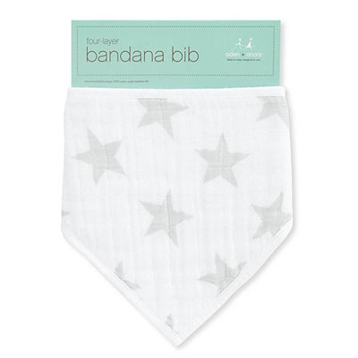 Bavoir bandana stardust silver star Aden + anais