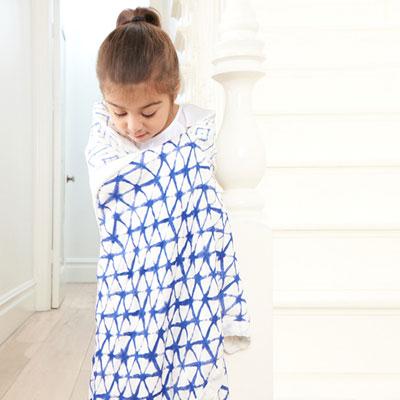 Couverture bébé silky solf indigo Aden + anais