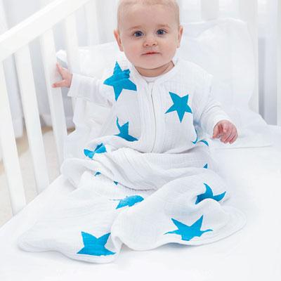 Gigoteuse été étoiles bleues fluo 12-18 mois Aden + anais