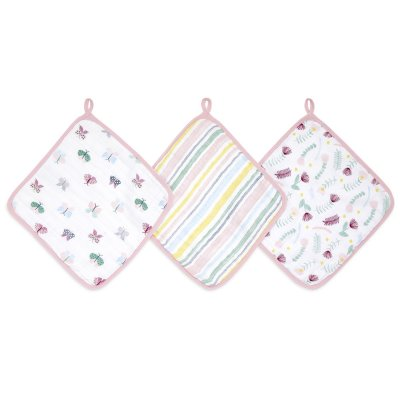 Lot de 3 débarbouillettes floral fauna Aden+anais essentials