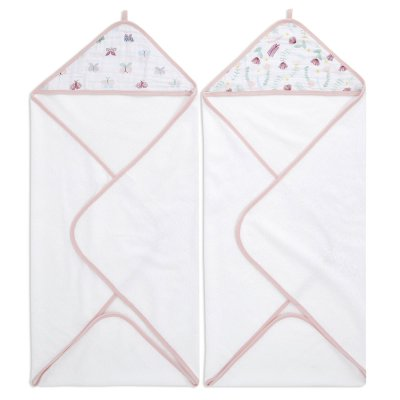Lot de 2 sorties de bain floral fauna Aden+anais essentials
