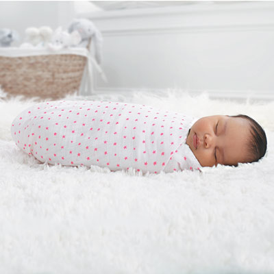 Lot de 2 maxi-langes rose fluo Aden + anais