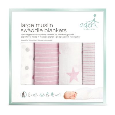 Lot de 4 maxi-langes doll Aden by aden+anais
